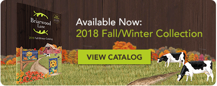 Introducing the 2018 Briarwood Lane Fall, Winter, Holiday and Christmas Garden Flag, House Flag Doormat and Hardware Collection!